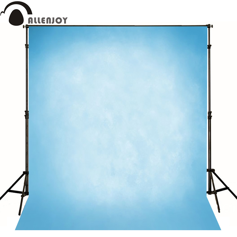 Allenjoy Thin Vinyl cloth photography Backdrop blue Pure Color Computer Printing Background Wedding Baby backdrop MH-069