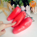 20pcs 13cm The Simulation carrots Squeeze Toy Squishy Charm Key Chain Decompression toys