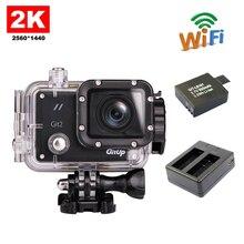 Envío libre!! gitup git2 wifi divierte la cámara 2 k full hd para sony imx206 sensor 16mp + extra 1 unids batería + cargador de batería