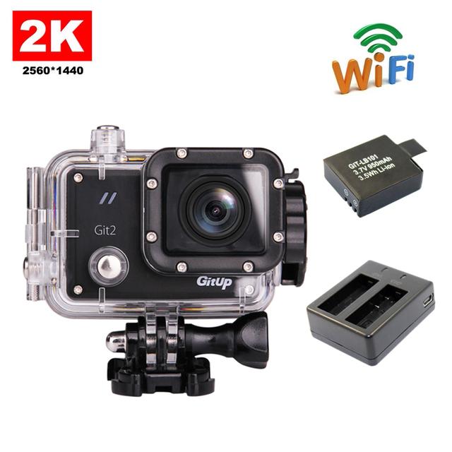 Frete grátis!! gitup git2 wi-fi câmera de ação de esportes 2 k full hd para sony imx206 16mp sensor + extra 1 pcs bateria + carregador de bateria