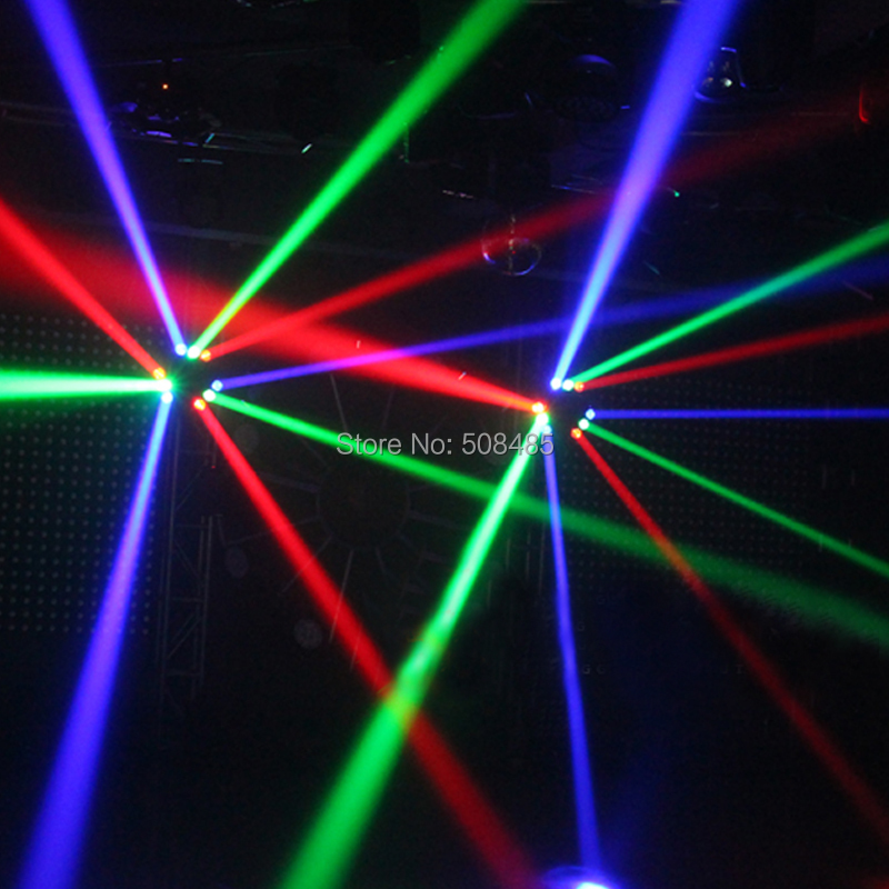 Купить с кэшбэком New CREE MINI LED 9x10W Led Spider Light RGBW 16/48CH DMX Stage Lights Dj Led Spider Beam Light  Moving Head