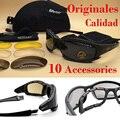 Original calidad daisy x7 militar gafas gafas a prueba de balas del ejército gafas de sol con 4 lentes caja original hombres de tiro 2017 new
