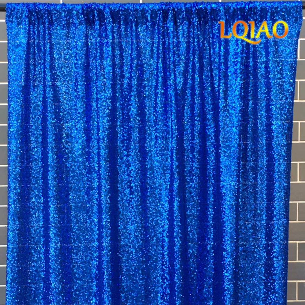 Royal Blue Sequin Backdrop-12