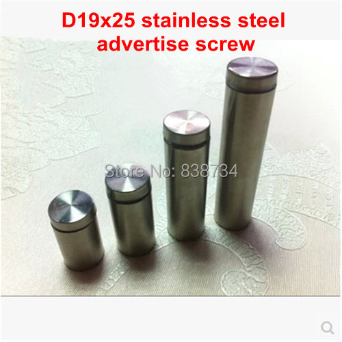 ethics of television advertisement 10PCS 19*25 stainless steel advertisement nails barrel screws glass standoff pins 19mm