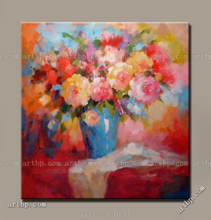 Original rose flower art oil painting acrylic landscapes for Painting large flowers in acrylic