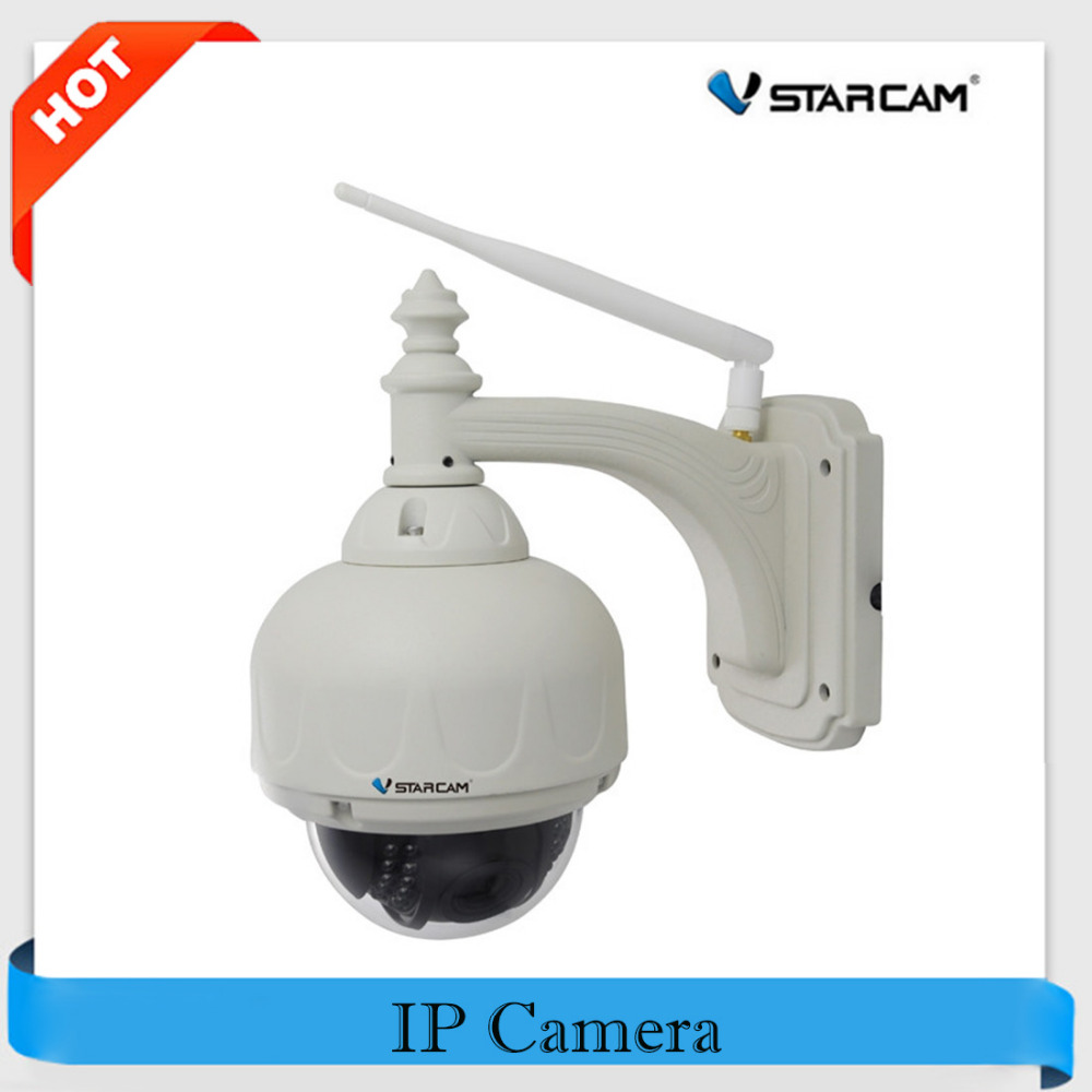 цена на VStarcam Wireless PTZ Dome IP Camera Wifi 4X Zoom Optical Outdoor Waterproof 720P HD CCTV Network Surveillance Cam C7833WIP-X4