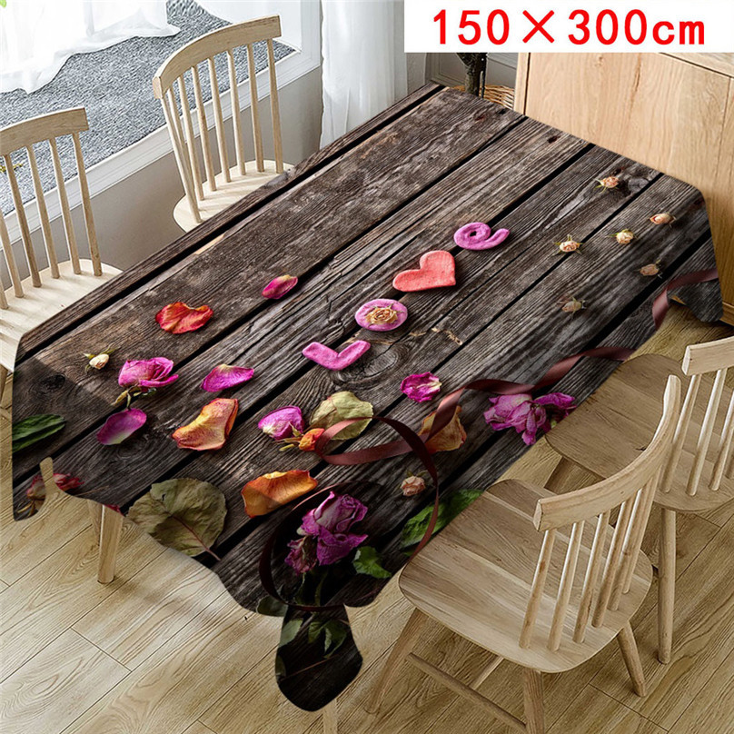 Wedding Valentine`s Day romantic 3D tablecloth table cloth Dinner for Family Party Home Decortion 2019 NEW table cloth #5J07 (9)