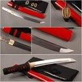 Hermoso equipo de autodefensa para niñas completamente hecho a mano japonés Tanto doblado acero completo Tang afilada espada samurái