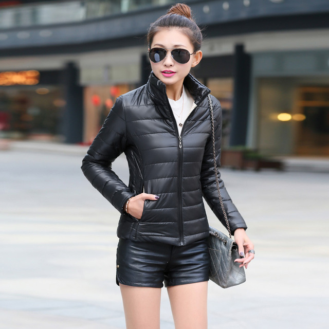2017 Autumn Winter Women Basic Jacket Coat Female Slim Hooded Brand Cotton Coats Casual Black Jackets free shipping 4