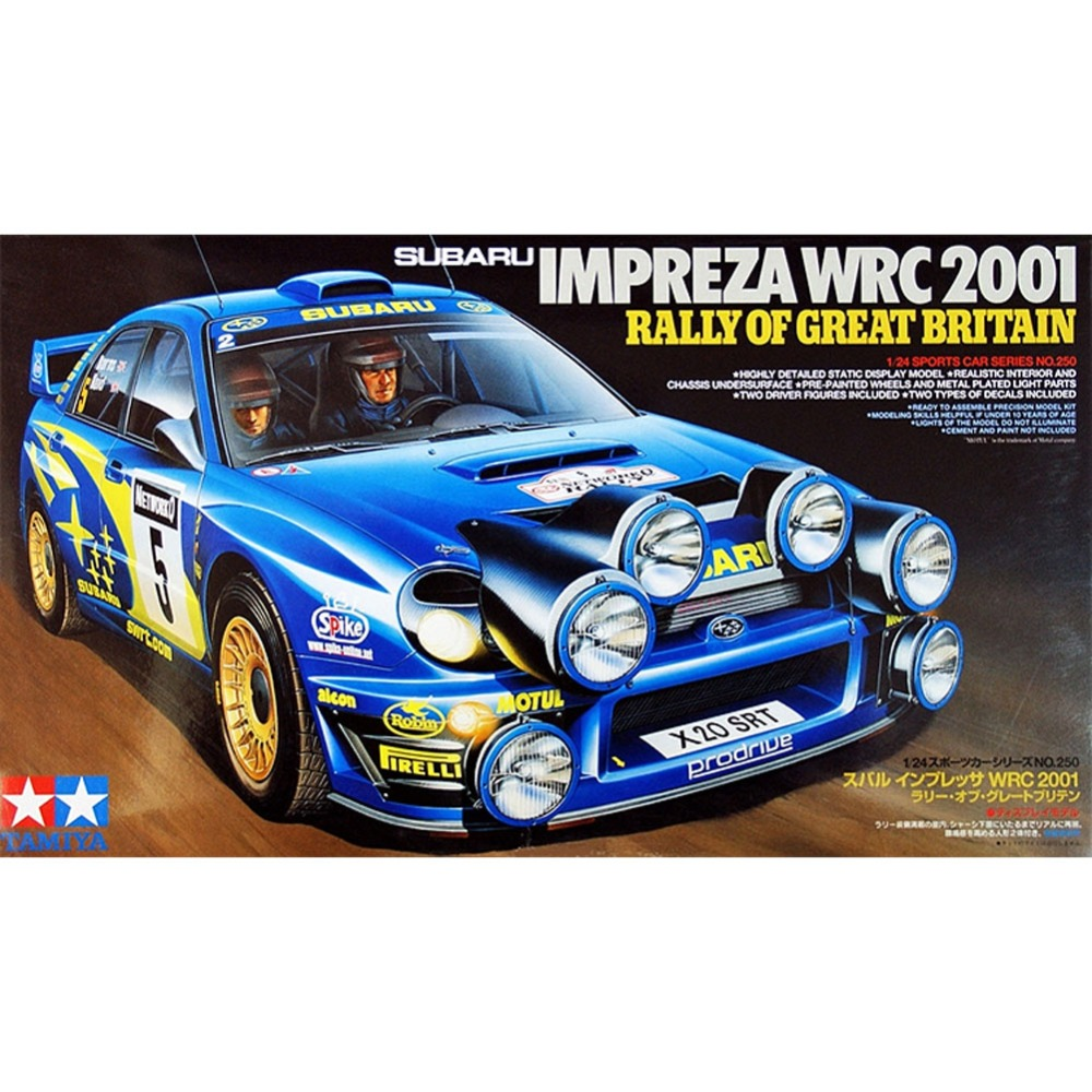 цена на OHS Tamiya 24250 1/24 Impreza WRC 2001 Rally Of Great Britain Scale Assembly Car Model Building Kits oh