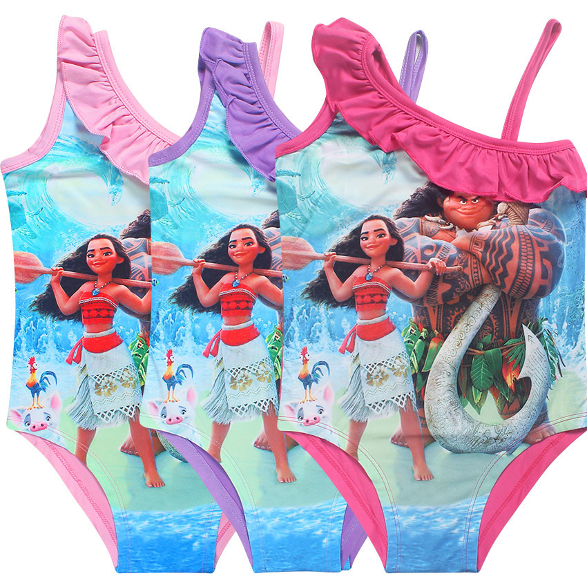 Summer Fashion Children Clothing Set Cartoon MOANA Swimwear For Girls Swimsuit Beachwear Strapped for 3-10Y Kids