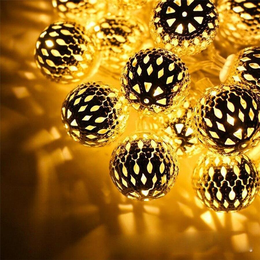 Selfless 20pcs 2.5cm Rattan Ball Fairy String Lights Garland Outdoor Copper Moroccan Ball Patio Light Christmas Wedding Party Decoration Lights & Lighting