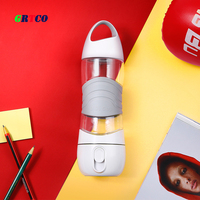 3 In 1 Rechargeable Air Ultrasonic Humidifier 400ML Sport Water Bottle LED Night Light 1200MaH Battery
