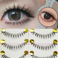 10 Pairs Makeup Handmade Natural Under Lashes False Eyelashes Lower Bottom Eye Lashes