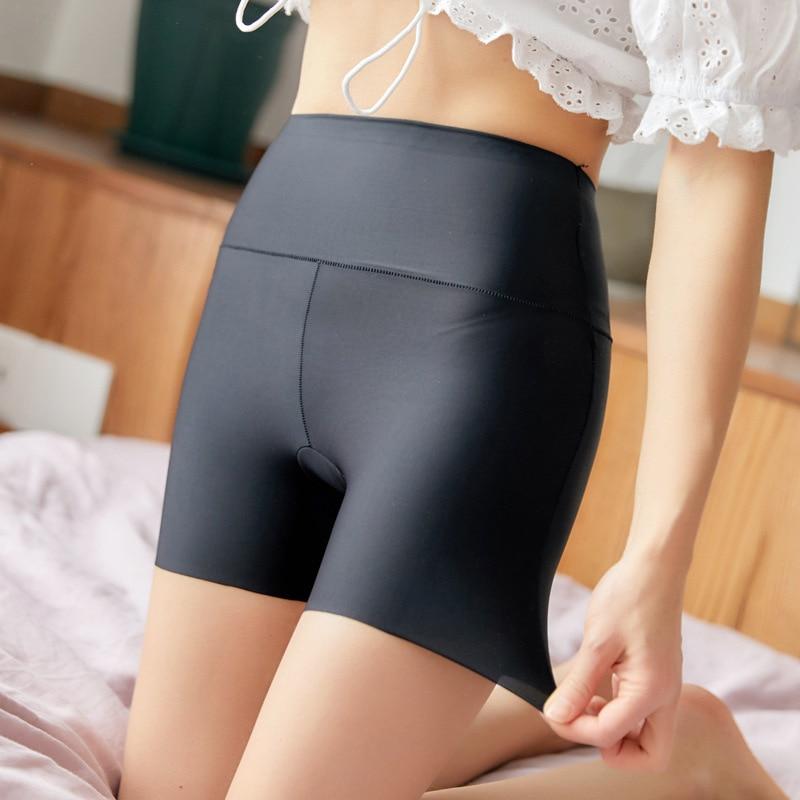 LANGSHA Women Safety Shorts Pants Seamless Nylon Panties Seamless Emptied Boyshorts Boxers Girls High Waist Slimming Underwear