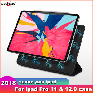 Case For iPad Pro 11 2018 Smart Cover For iPad Pro 12.9 2018 Case Ultra Slim Support Attach Charge For iPad 11 12.9 inch Case(China)