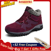 Krasovki Snow Boots Women Cotton Shoes Dropshipping Mother Warm Winter and Velvet Ski