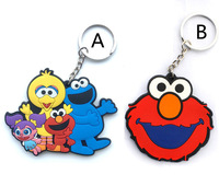 Sesame Street Elmo Animal Bird pvc plastic keychains keychain for men