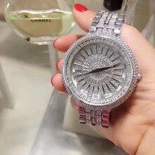 Top Brand Silver Women Bracelet Watch Lu