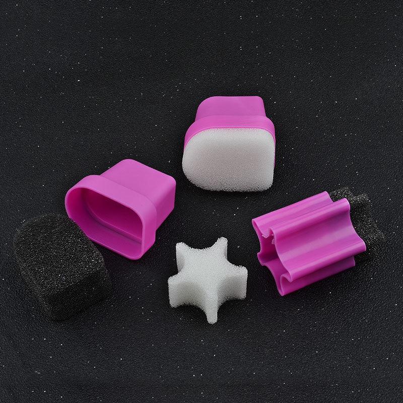 1pcs Nail Stamper Sponge Head with Rose Holder For Nail Polish Gradient Color Printing Stamping Nail Art Tools