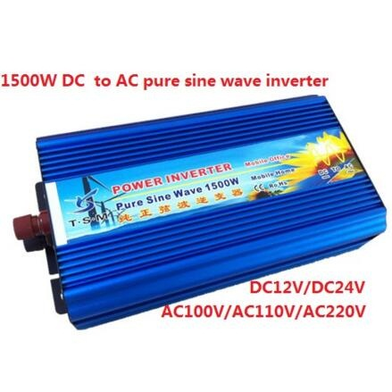 peak power 3000W rated power 1500W Pure Sine Wave Inverter DC12V to AC 220V 50hz Power Inverter