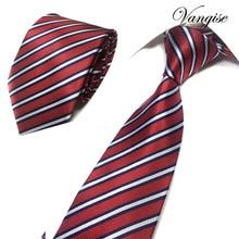 8cm Width Mens Ties New Fashion Plaid Neckties Corbatas Gravata Jacquard Woven Slim Tie Business Wedding Stripe Neck Tie For Men fashionable star and stripe pattern patchwork 5cm width tie for men