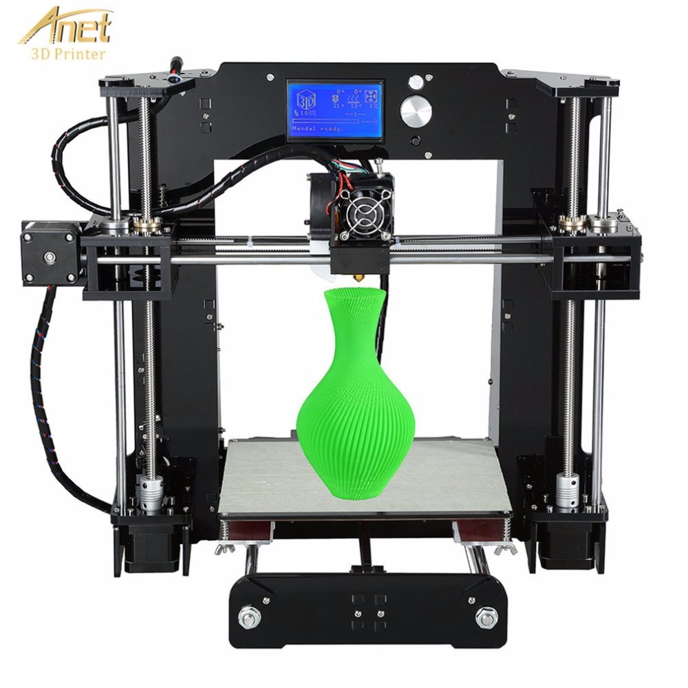 Anet A6 3D Printer High-precision Large Print Size LCD Display Aluminum Hotbed Desktop 3D Printing Machine Kit anet a6 3d desktop printer kit