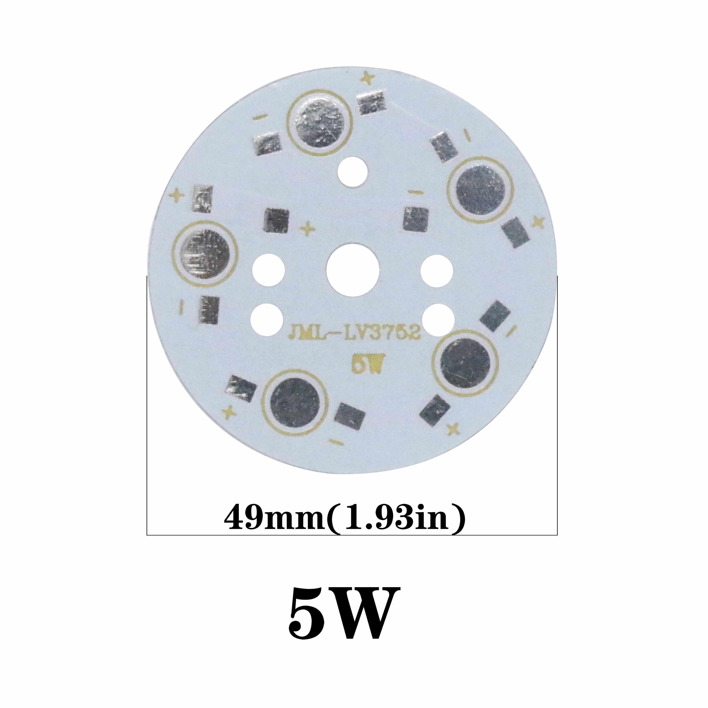 5 pçs led base de alumínio para 1 w 3 5 7 9 12 15 18 20 24 45 placa de alumínio led pcb substrato placa led kit dissipador de calor
