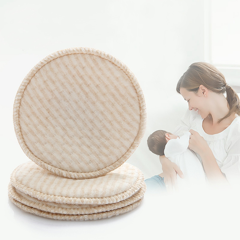 4pcs/bag Mommy Nursing Pad Washable Breast Pads Spill Prevention Feeding