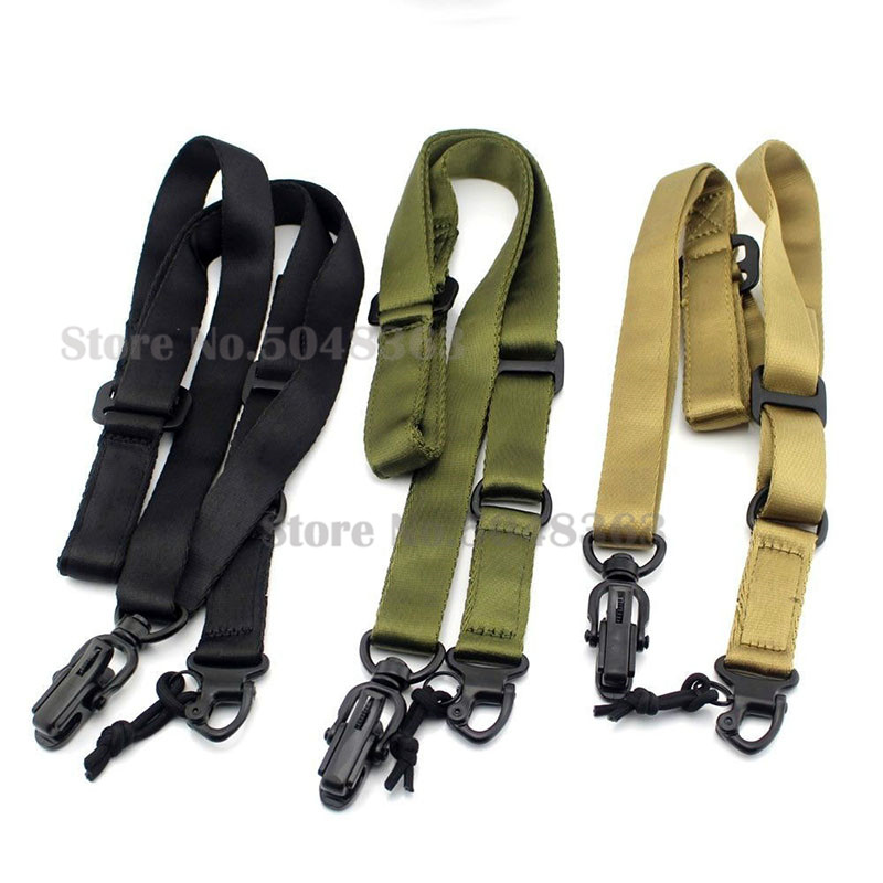 Tactical-Multi-Mission-2-Point-Gun-Sling-System-Outdoor-Hunting-Survival-Two-point-Rifle-Sling-strap