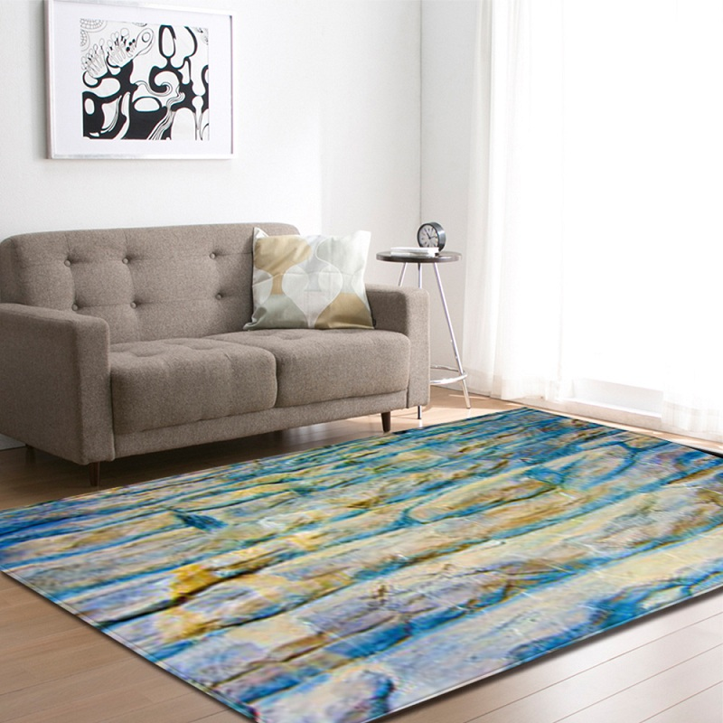 3D Rock Texture coloré moderne salon tapis tapis tapis enfants Sajad tapis rond grands tapis anti-dérapant chambre