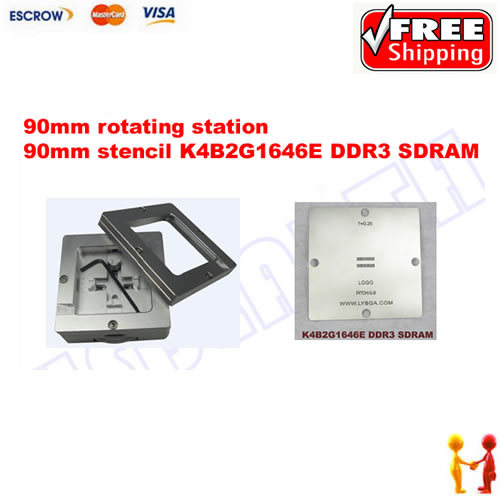 Freeshipping. BGA Reballing 90mm * 90mm PS4 Stencil K4B2G1646E DDR3 SDRAM 0.25mm + 90mm reballing station freeshipping 100% new intel 82801hbm ic chipset with bga stencil 90mm nh82801hbm