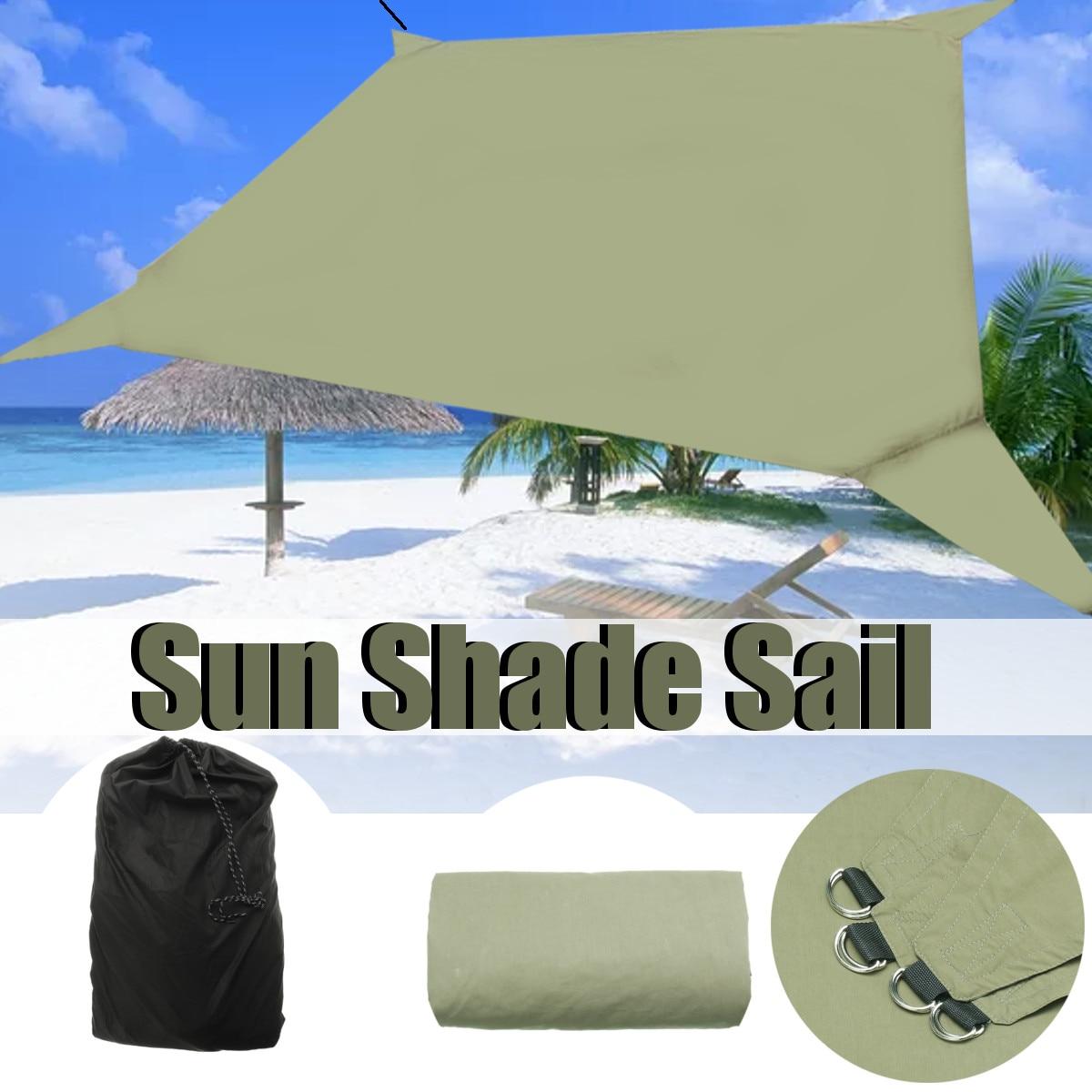 95% Protection UV étanche abri solaire parasol extérieur auvent jardin Patio piscine ombre voile auvent Camping ombre tissu