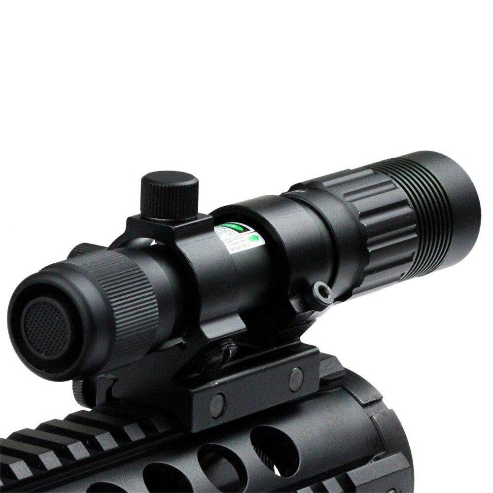 1 pc Tactique 20 mW Vert Visée Laser, réglable Vert Désignateur Laser, chasse Laser Sight Avec 21mm Rail Pour pistolet arme