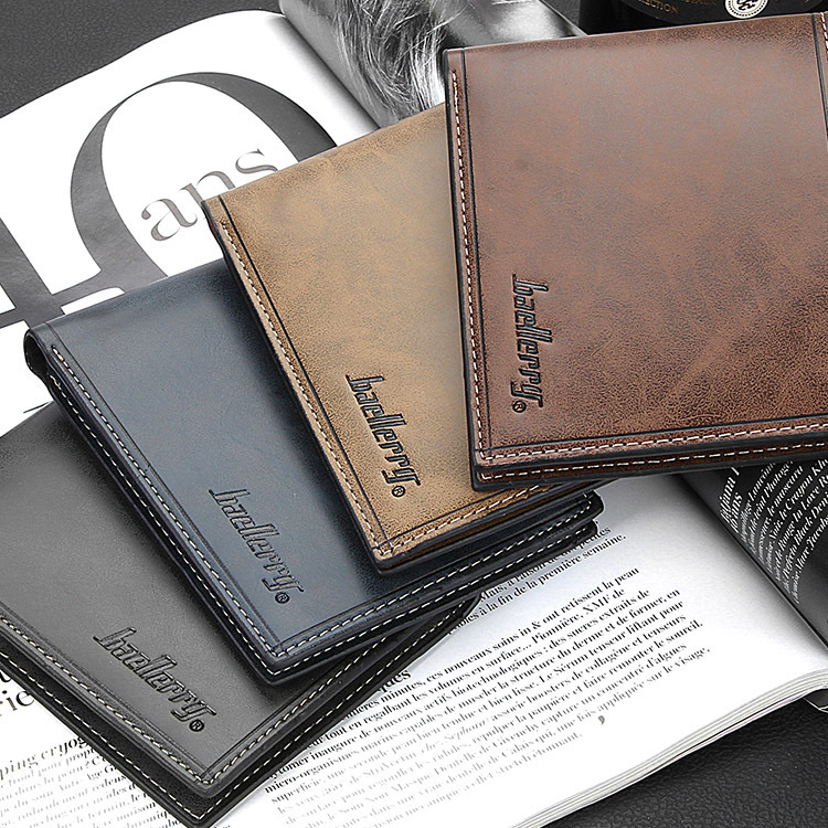 Baellerry Casual Men's Wallet High Quality No Zippers Short Men Wallets Luxury Letter Male Purse with Card Holder Carteira