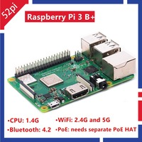 52Pi 2018 New Original Raspberry Pi 3 Model B Plus RS UK Made RPI 3B Plus