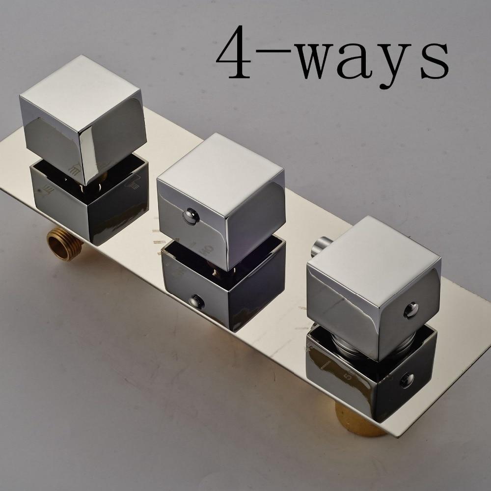 Здесь можно купить  Brass Chorme Polish Bathroom Thermostatic Mixer Value 3-Ways Mixer Faucet Accessory  Строительство и Недвижимость