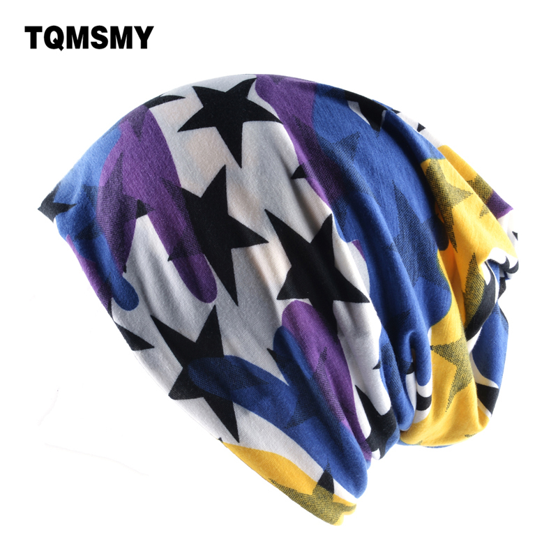 TQMSMY Multicolor Spring Turban Hats for Damer Beanies - Klær tilbehør