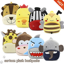 Hot Sale Baby Cartoon Plush Backpacks Kids Children Lovely Animal Bags High Quality Boys Girls School Bags Toddlers Cute Bags(China)