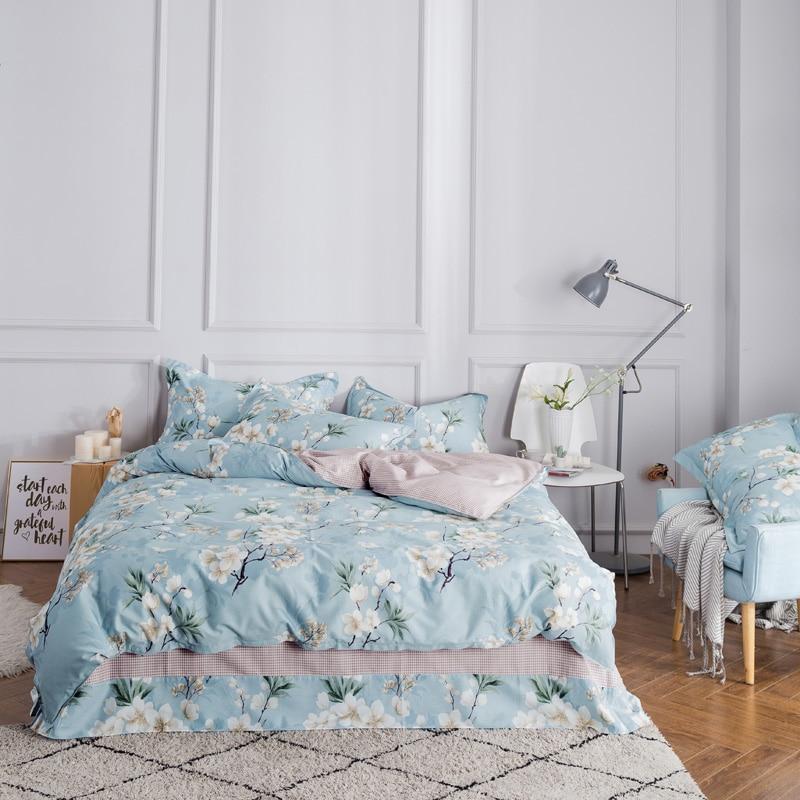 Unihome 100% Cotton Duvet Cover Sets, Print Floral Pattern Design, Full Queen Size (HZYC)