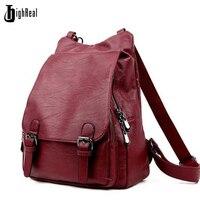 Women Backpacks Leather Female Travel Shoulder Bag Backpack High Quality Women Bag College Wind School Bag
