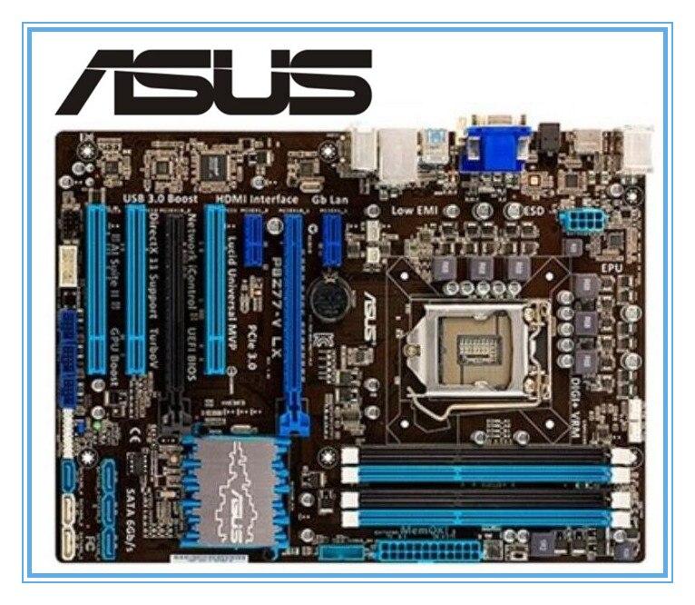 Бесплатная доставка 100% первоначально материнская плата для ASUS P8Z77-V LX DDR3 LGA 1155 ОЗУ 32 ГБ рабочего Материнская плата