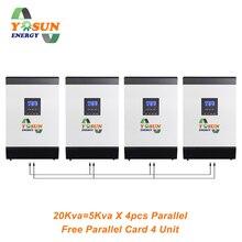 20Kw Solar Inverter 60A MPPT Pure Sine Wave Off-Grid Inverter 48Vdc 230Vac AC Charger Inverter Free Parallel Card