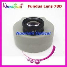 78DM ほど良く volk レンズ! 眼科非球面眼底スリット ランプ連絡ガラス レンズ ハード プラスチック ケース詰め送料無料