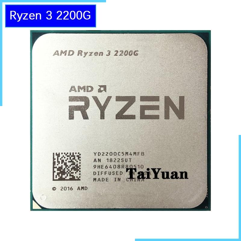 AMD Ryzen 3 2200G R3 2200G 3.5 GHz Quad-Core CPU Processor 65W YD2200C5M4MFB Socket AM4