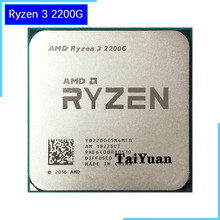 AMD Ryzen 3 2200 グラム R3 2200 グラム 3.5 1.2ghz のクアッドコア Cpu プロセッサ 65 ワット YD2200C5M4MFB ソケット AM4