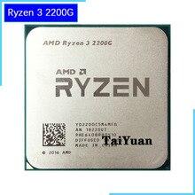 AMD Ryzen 3 2200G R3 2200G 3.5 GHz dört çekirdekli İşlemci 65W YD2200C5M4MFB soket AM4