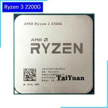 Amd ryzen 3 2200g r3 2200g 3.5 ghz 쿼드 코어 cpu 프로세서 65 w yd2200c5m4mfb 소켓 am4