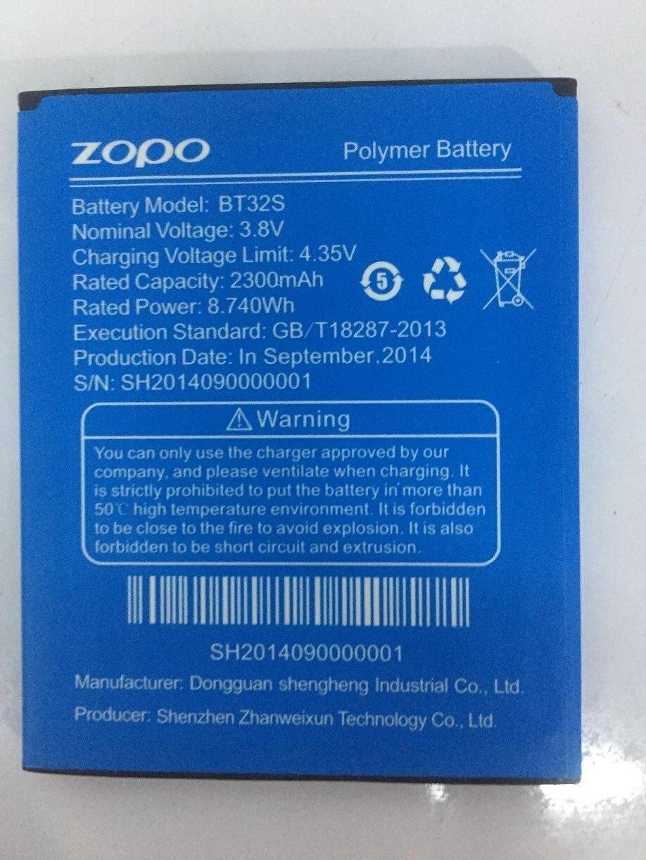 2300 mAh Substituição Bateria Do Telefone Móvel Para ZOPO BT32S BT32S Li-ion Polymer Baterias