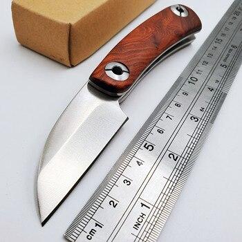 цена JSSQ Razor Folding Knife D2 Blade Rosewood Handle Tactical Survival Pocket Knife Outdoor Camping Hunting Knives Multi EDC Tools онлайн в 2017 году